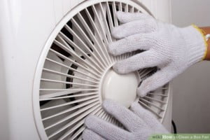 Replace the parts of window fan