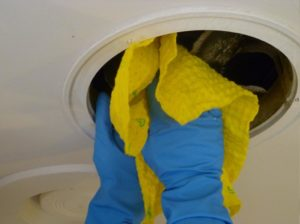Cleaning the fan Blades